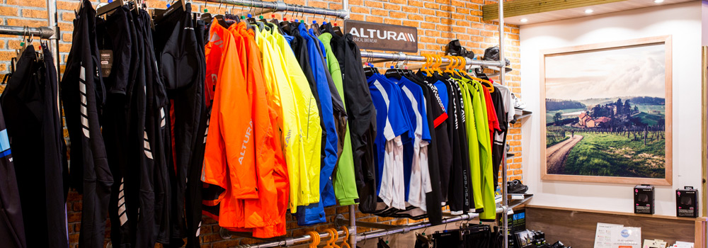 Massive selection of clothing from top brands including Altura, Castelli and Endura
