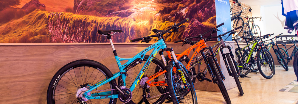 Demo bikes from Whyte and Wilier